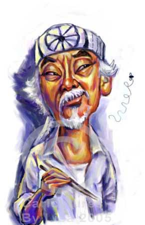 Image result for mr miyagi cartoon